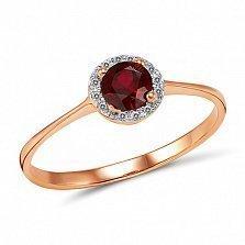 Кольцо из красного золота Дафна с рубином и бриллиантами