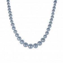 Ожерелье Прозерпина с золотой застежкой и серым жемчугом