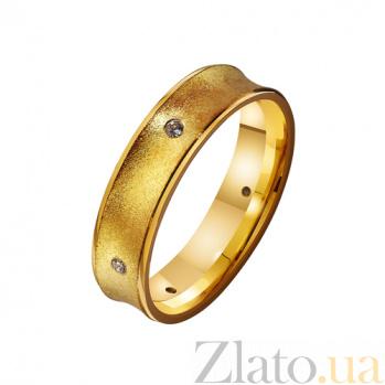 Золотое обручальное кольцо с фианитами  Эмбер TRF--4121670