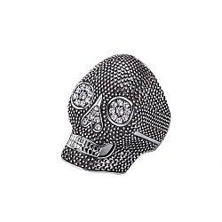 Серебряное кольцо с чернением и фианитами 000114758