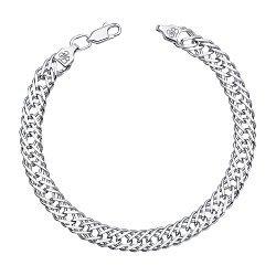 Серебряный браслет в плетении ромб, 7 мм 000122243
