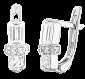 Серьги из серебра с цирконием Кира SLX--СК2Ф/017