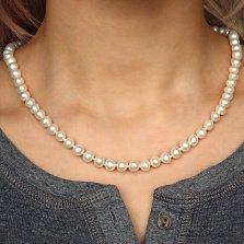 Жемчужное ожерелье Эдит с золотым замком, Ø6,0-6,5мм
