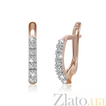 Серебряные серьги с цирконием Алли 000024571