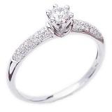Кольцо в белом золоте с бриллиантами Свет любви