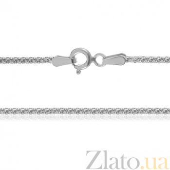 Серебряная цепь Лиана с родированием, 50 см 000030853