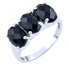 Серебряное кольцо Виджая с ониксом