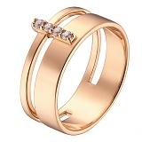 Кольцо в красном золоте Светлана с фианитами