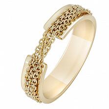 Кольцо Скованные одной цепью в желтом золоте