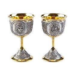 Комплект рюмок Боярин и Боярыня с позолотой