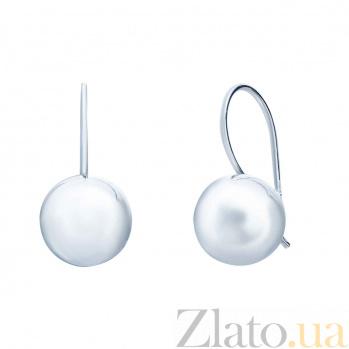 Серебряные серьги Леолла AQA--Тс-470103
