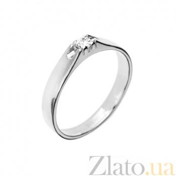 Кольцо в белом золоте Maxima с бриллиантом 000079317
