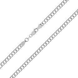 Цепь из серебра с родированием, 5 мм 000072022