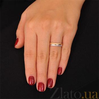 Золотое обручальное кольцо Мотив любви 000001673