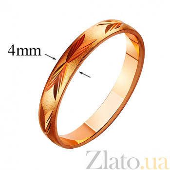 Золотое обручальное кольцо Be-loved TRF--411060