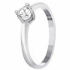 Серебряное кольцо Адора с цирконием