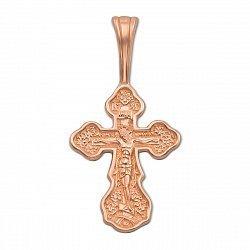 Крестик в красном золоте Защита Всевышнего 000101718