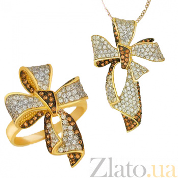 Кольцо из желтого золота Цветок VLT--ТТ131-1
