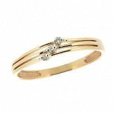 Кольцо из красного золота Ариана с лейкосапфирами