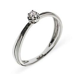 Кольцо из белого золота с бриллиантом Элен