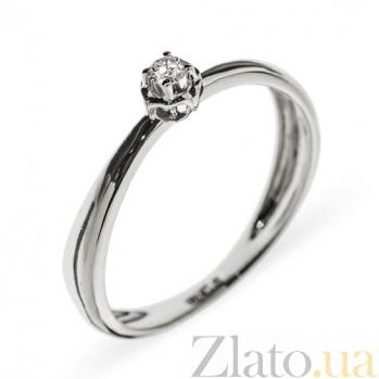 Кольцо из белого золота с бриллиантом Элен R0694