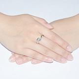 Золотое кольцо с бриллиантом огранки Маркиз