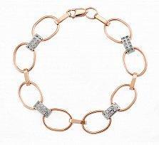 Женский золотой браслет с цирконами Оливия