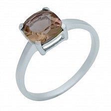 Серебряное кольцо Нэнси с султанитом в четырех крапанах