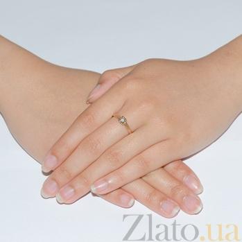 Обручальное кольцо с бриллиантом Искра AQA--1195211