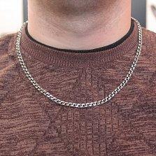Серебряная цепь с чернением Бисмарк классический,  5мм