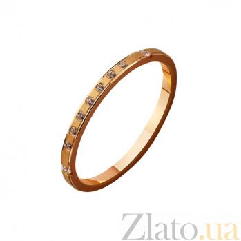 Золотое обручальное кольцо с фианитами Эдем TRF--4121143