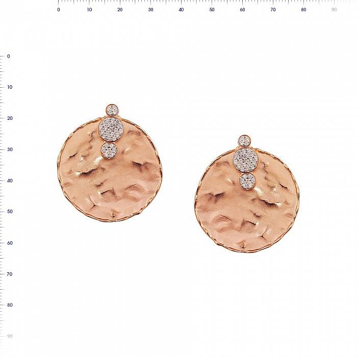Серьги из красного золота Адония с фианитами 000081442