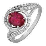 Серебряное кольцо с рубином Шантье