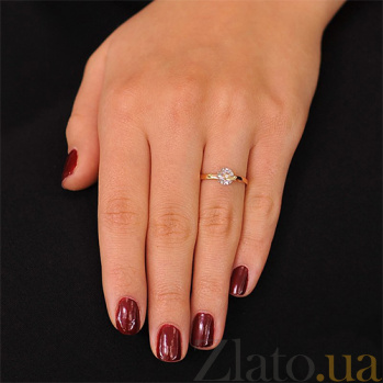 Золотое кольцо с цирконием Моника EDM--КД043