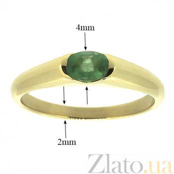 Золотое кольцо Зафира из желтого золота с изумрудами ZMX--RE-15790y_K