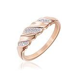 Серебряное кольцо Колос с позолотой и фианитами