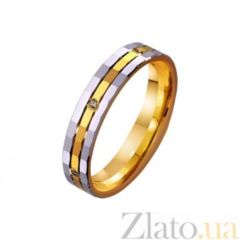 Золотое обручальное кольцо Любовь без границ с фианитами TRF--4421682