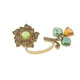 Золотое кольцо с бриллиантами и турмалином Aurica