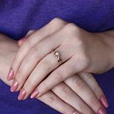 Золотое кольцо Патрисия в комбинированном цвете с бриллиантом