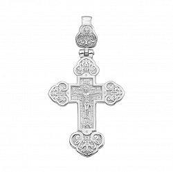 Серебряный двусторонний крест 000133878