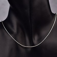 Серебряная цепочка Муна в плетении снейк с чернением и насечками