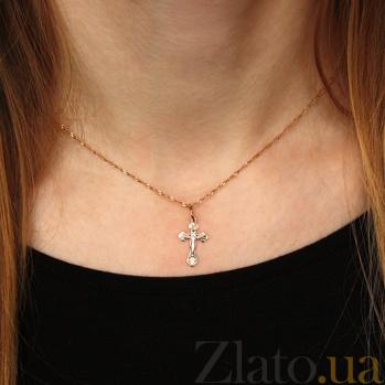 Крестик из золота Спаси и Сохрани TNG--230026