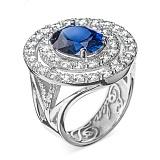 Золотое кольцо с сапфиром и бриллиантами Императрица