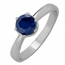 Серебряное кольцо с сапфиром Лея