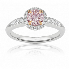 Кольцо Argile из белого золота с бриллиантами и розовым сапфиром солите R-cjAr-W-1s-27d в интернет магазине Злато