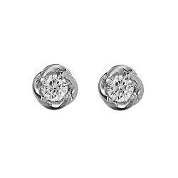 Серебряные серьги-пуссеты с цирконием Праздник