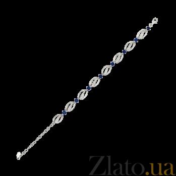 Серебряный браслет с синими фианитами Вивиана 000025883
