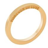Обручальное кольцо Forever in love в красном золоте