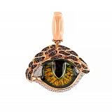 Кулон из красного золота Кошачий глаз