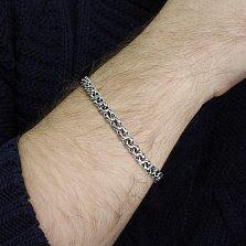 Серебряный браслет Ясон с чернением